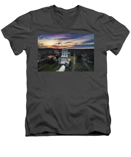 Historic Sunset Men's V-Neck T-Shirt