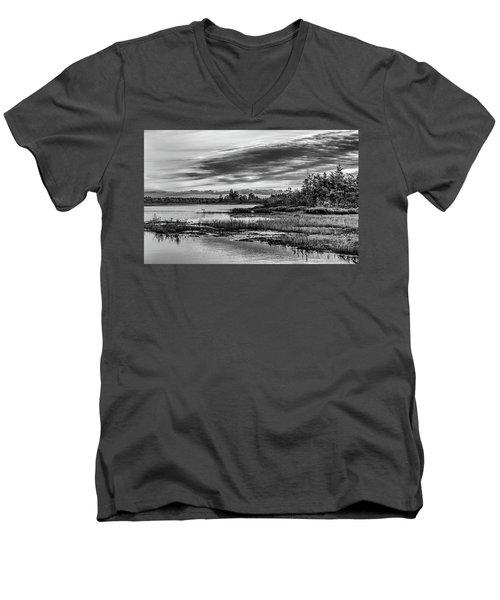 Historic Whitebog Landscape Black - White Men's V-Neck T-Shirt