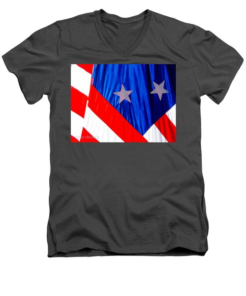 Historical American Flag Men's V-Neck T-Shirt