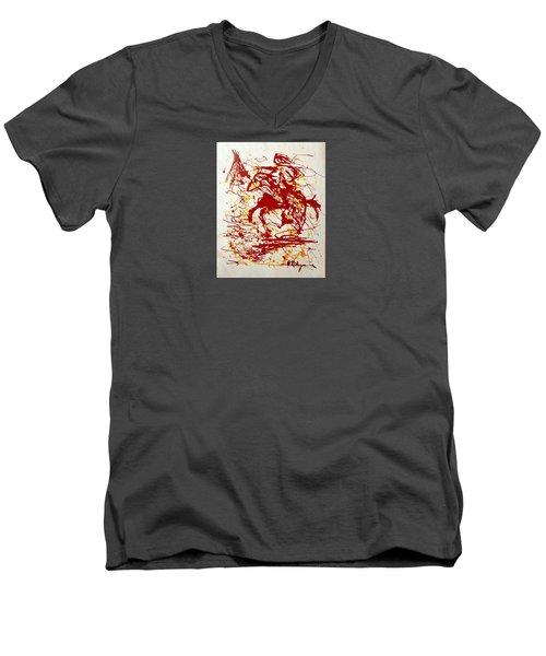 History In Blood Men's V-Neck T-Shirt