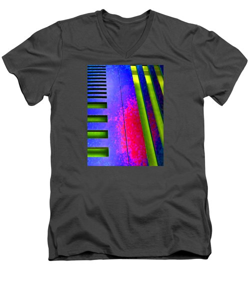Hit And Miss - 1 Men's V-Neck T-Shirt by Robert J Sadler