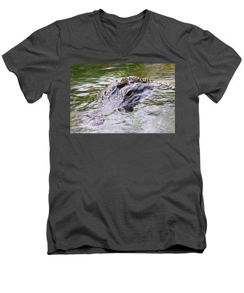 Hitchin' A Ride. Men's V-Neck T-Shirt