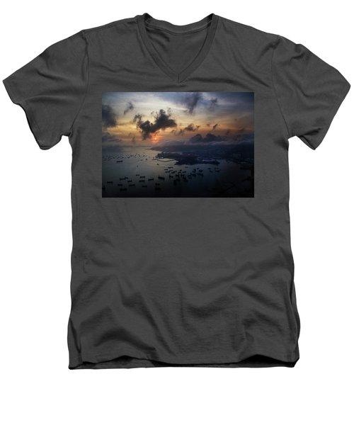 HK Men's V-Neck T-Shirt