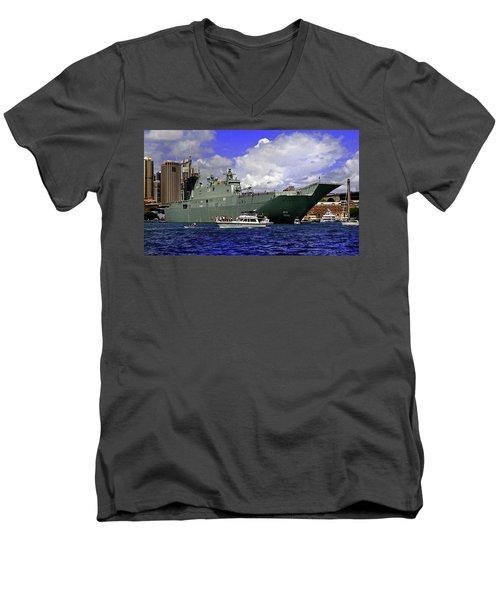 Hmas Adelaide IIi Men's V-Neck T-Shirt