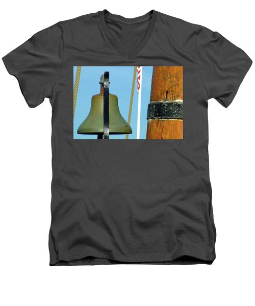 Hms Bounty Ships Bell Men's V-Neck T-Shirt