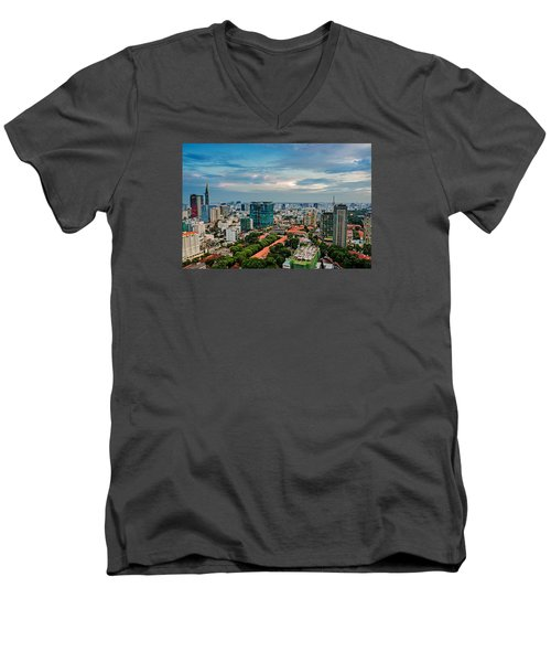 Ho Chi Minh City Men's V-Neck T-Shirt