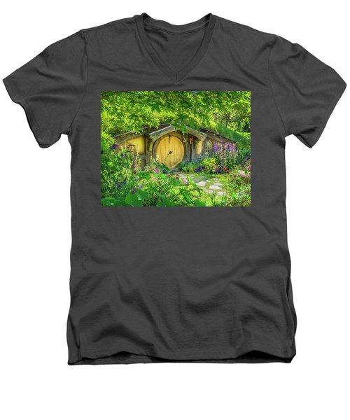 Hobbit Cottage Men's V-Neck T-Shirt