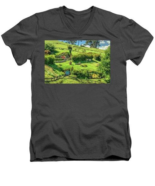 Hobbit Hills Men's V-Neck T-Shirt