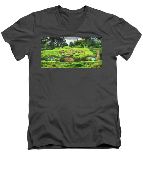 Hobbit Lane Men's V-Neck T-Shirt