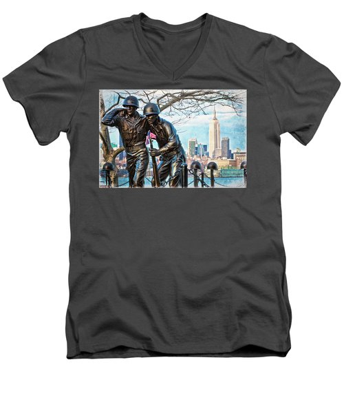 Hoboken War Memorial Men's V-Neck T-Shirt