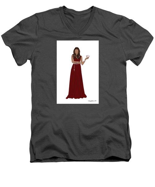 Men's V-Neck T-Shirt featuring the digital art Hoda by Nancy Levan