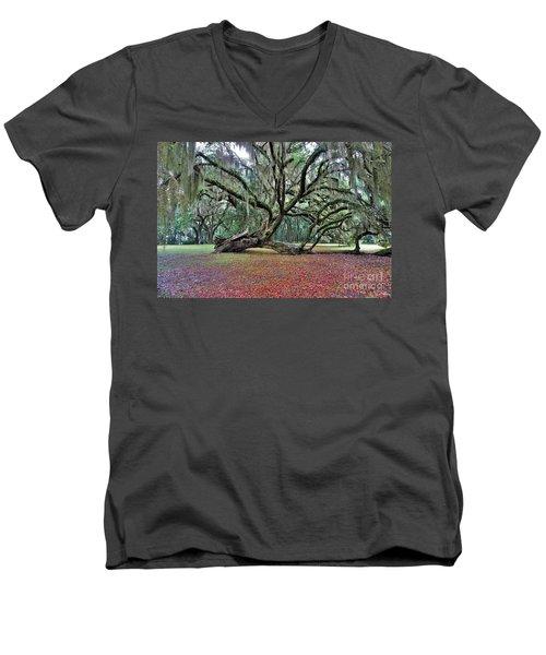 Hofwyl-broadfield Plantation2 Men's V-Neck T-Shirt