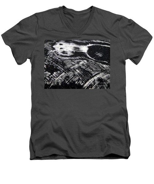 Hog Fish Float One Men's V-Neck T-Shirt by Expressionistart studio Priscilla Batzell