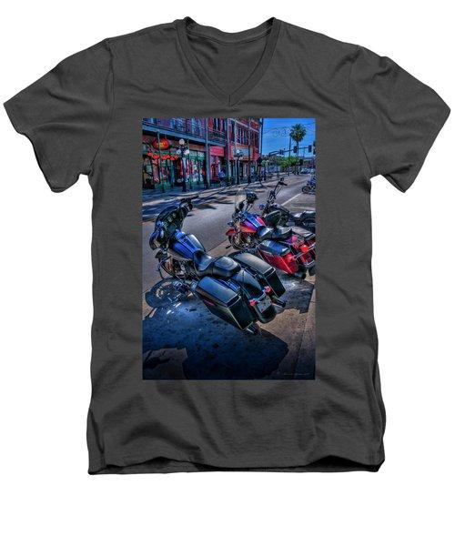 Hogs On 7th Ave Men's V-Neck T-Shirt