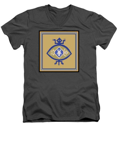 Hohokam Mimbres Turtle Family Men's V-Neck T-Shirt