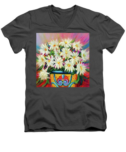 Hola Daisies Men's V-Neck T-Shirt