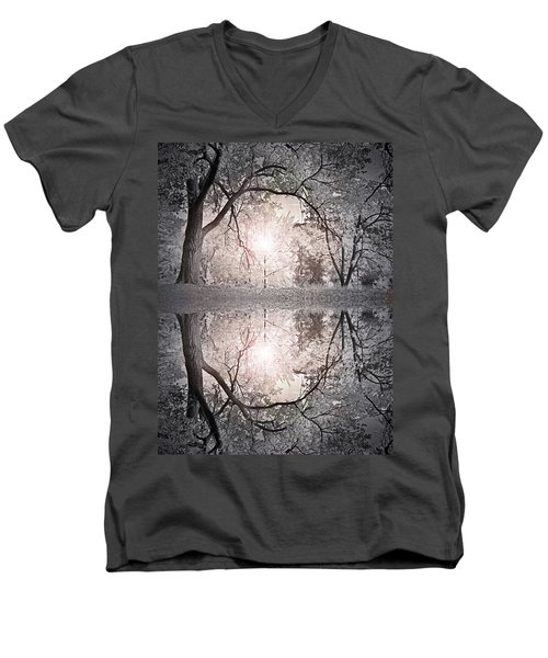 Men's V-Neck T-Shirt featuring the photograph Hold Me In This Pale Light by Tara Turner