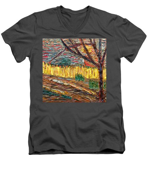 Hold The Thought Firmly... Men's V-Neck T-Shirt by Vadim Levin