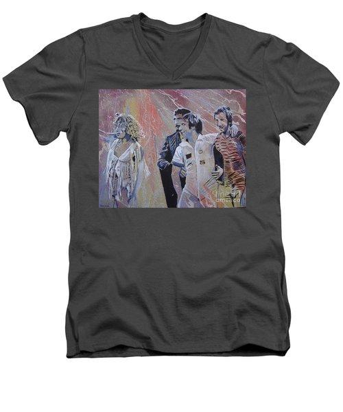 Holding Up The Moon Men's V-Neck T-Shirt by Stuart Engel