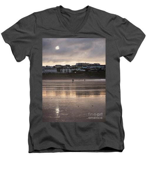 Men's V-Neck T-Shirt featuring the photograph Hole In The Clouds by Nicholas Burningham