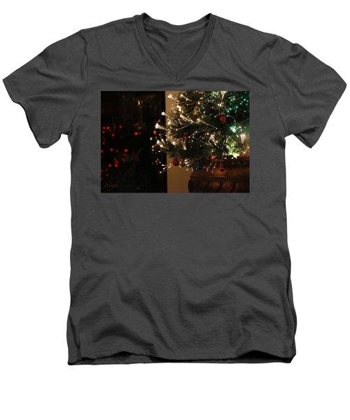 Holiday Attire Men's V-Neck T-Shirt by Yvonne Wright