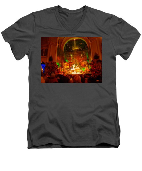 Holiday Decor In The Basilica Men's V-Neck T-Shirt