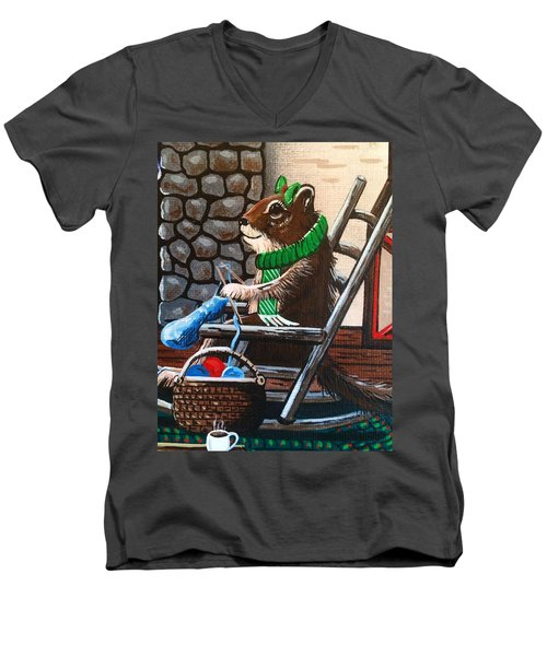Holiday Knitting Men's V-Neck T-Shirt