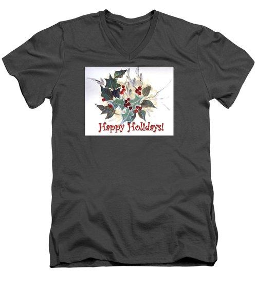 Holidays Card -1 Men's V-Neck T-Shirt