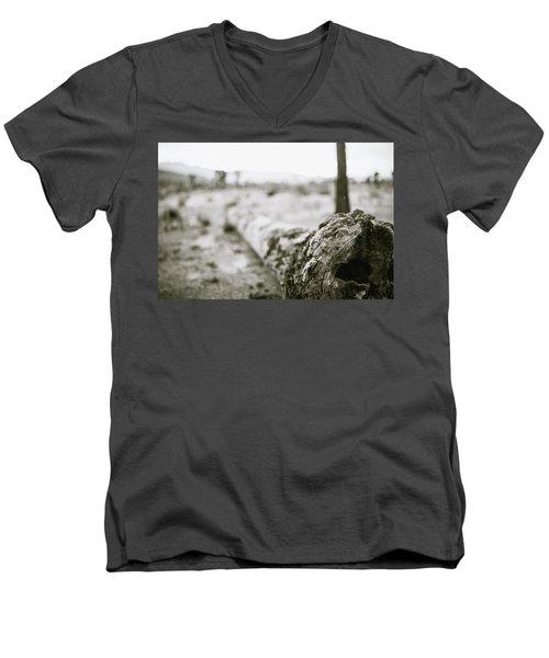 Hollow Men's V-Neck T-Shirt