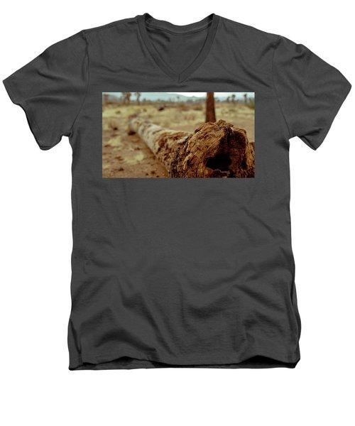 Hollow Lines Men's V-Neck T-Shirt