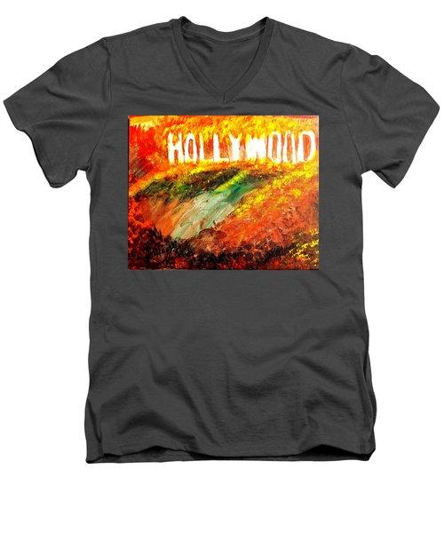 Hollywood Burning Men's V-Neck T-Shirt