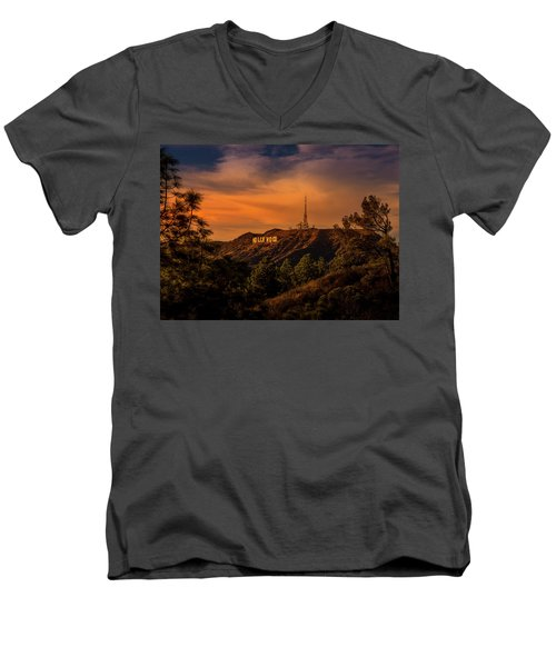 Hollywood Sunset Men's V-Neck T-Shirt