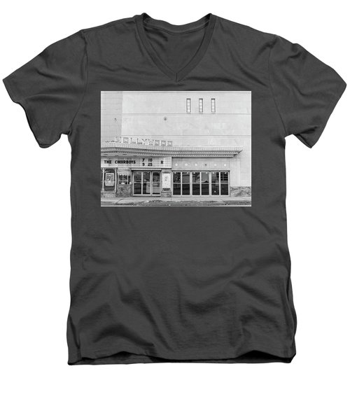 Hollywood Theater Marquee Men's V-Neck T-Shirt