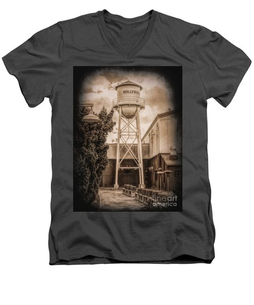 Hollywood Water Tower 2 Men's V-Neck T-Shirt