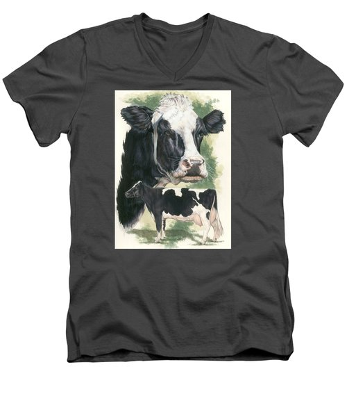 Holstein Men's V-Neck T-Shirt by Barbara Keith