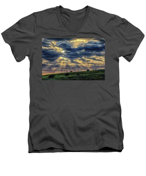 Holy Cow Men's V-Neck T-Shirt by Fiskr Larsen