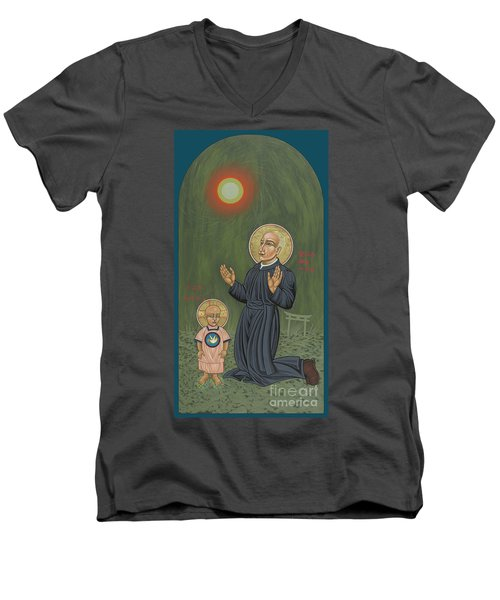 Holy Father Pedro Arrupe, Sj In Hiroshima With The Christ Child 293 Men's V-Neck T-Shirt