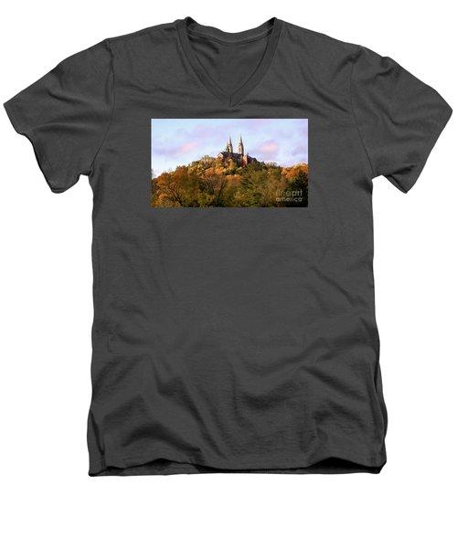 Holy Hill Basilica, National Shrine Of Mary Men's V-Neck T-Shirt by Ricky L Jones