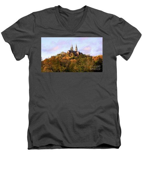 Holy Hill Basilica, National Shrine Of Mary Men's V-Neck T-Shirt