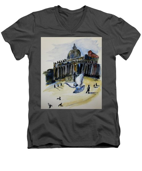 Holy Pigeons Men's V-Neck T-Shirt