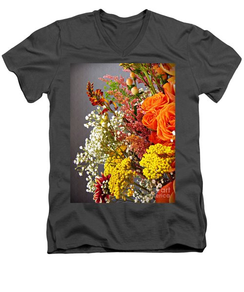 Men's V-Neck T-Shirt featuring the photograph Holy Week Flowers 2017 2 by Sarah Loft