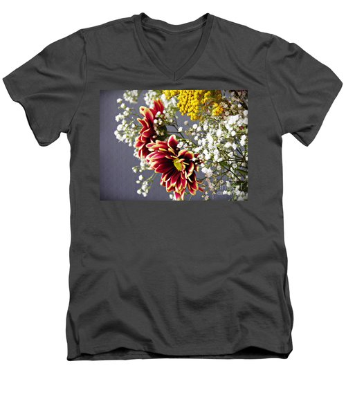 Men's V-Neck T-Shirt featuring the photograph Holy Week Flowers 2017 5 by Sarah Loft