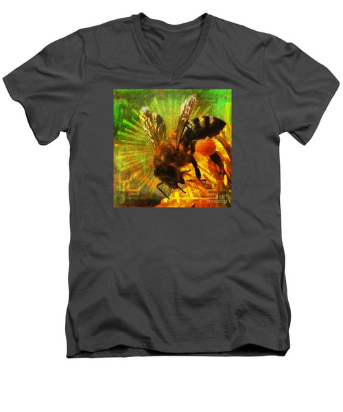 Homage To A Bee 2015 Men's V-Neck T-Shirt