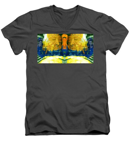Homage To Sir Alfred Men's V-Neck T-Shirt by Seth Weaver