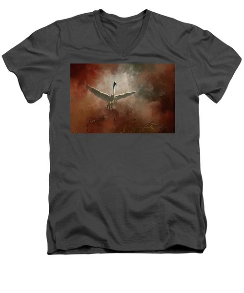 Men's V-Neck T-Shirt featuring the photograph Home Coming by Marvin Spates