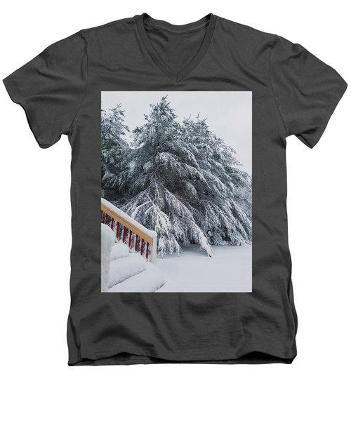 Home For The Blizzard Men's V-Neck T-Shirt