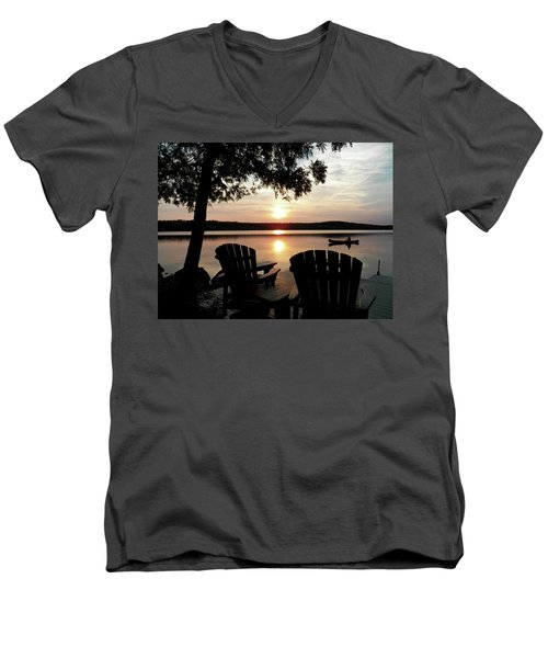 Home From A Paddle Men's V-Neck T-Shirt
