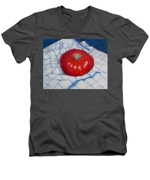Home Grown Men's V-Neck T-Shirt by Pamela Clements