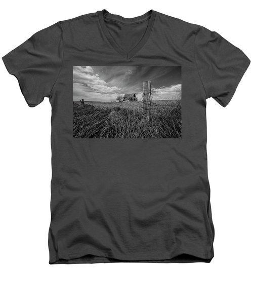 Men's V-Neck T-Shirt featuring the photograph Home On The Range  by Aaron J Groen