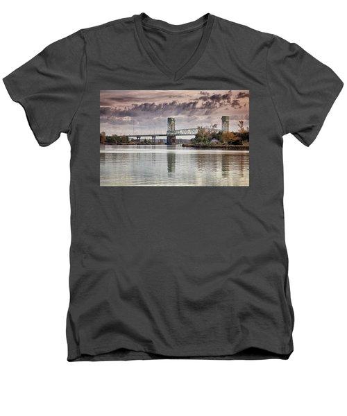 Cape Fear Crossing Men's V-Neck T-Shirt by Phil Mancuso